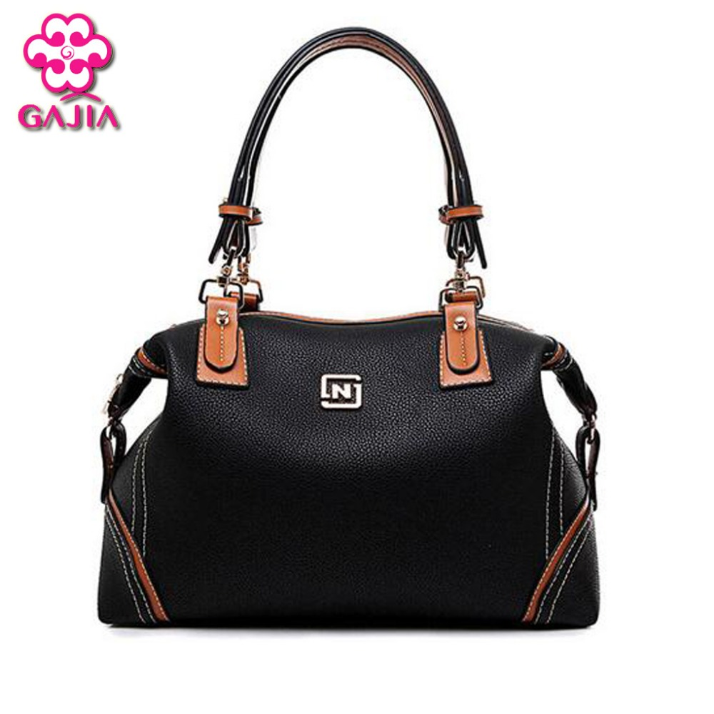 2016 fashion luxury handbags women large capacity casual bag ladies pu leather office tote bags Thread Business Messenger bag(China (Mainland))