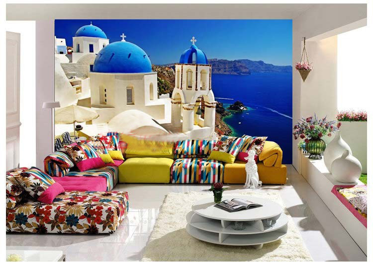 home decoration wall art Mural 3d three-dimensional wallpaper sofa tv bedroom wall wallpaper