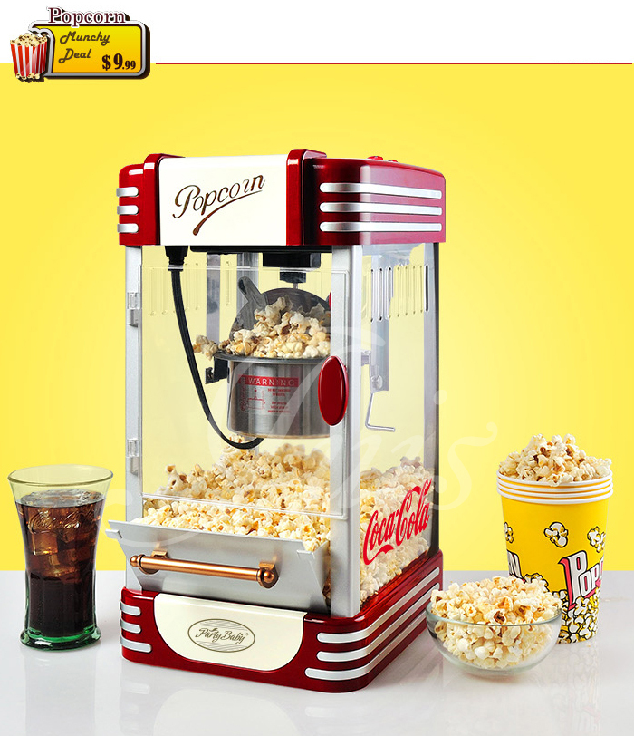 DIY for store commercial sale big cheap air oil popcorn maker machine(China (Mainland))