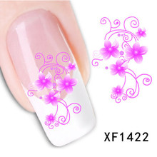 New Fashion Style Watermark 1 Sheet 3D Design Cute DIY Pink Flower Nail Art sticker , Nail Decals Decorations Tools