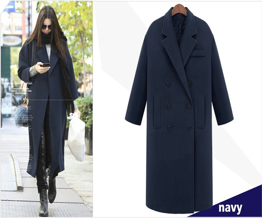 Fashion Style Winter Dress 2015 New Arrival Super Long