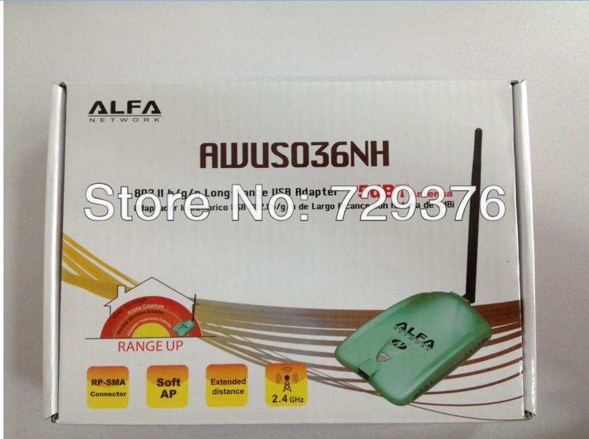 USB WI FI Antenna High Power ALFA AWUS036NH 1000mw Wifi Usb Adapter 5db Antenna Ralink3070 Chipset Network Card Wireless Factory()