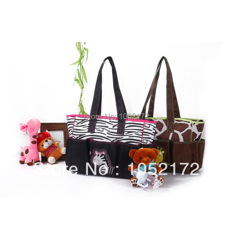 2015 HOT Baby Diaper Bags Women Messenger Shoulder Bag Maternity Changing Nappy Bag Tote Handbag giraffe zebra(China (Mainland))