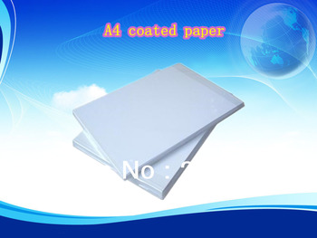 220g inkjet coated paper Glossy ,water-proof and  double-sided copperplate paper a4 inkjet copper sheet paper a4 50 pcs