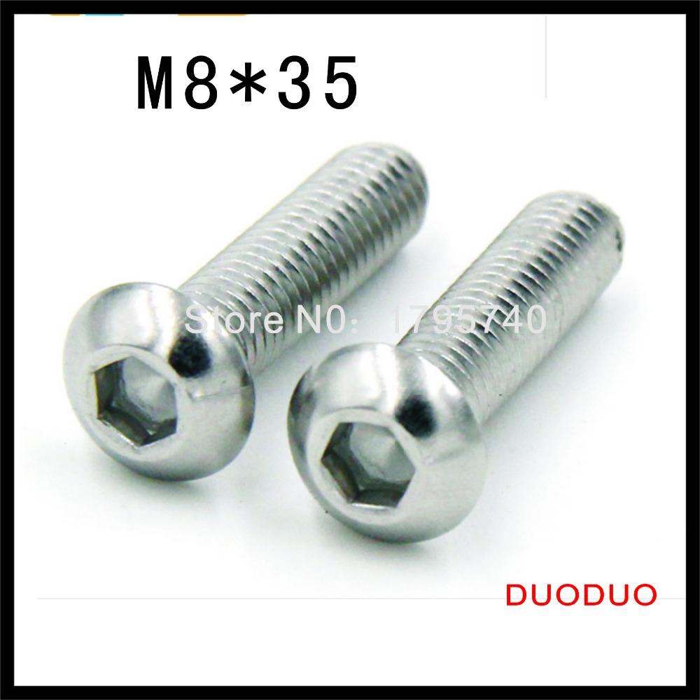 50pcs ISO7380 M8 x 35 A2 Stainless Steel Screw Hexagon Hex Socket Button Head Screws<br><br>Aliexpress