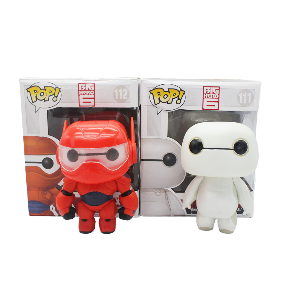 Funko Pop Figure 10cm 1pcs Big Hero 6 Baymax 2 Version PVC Cute Action Figure Cartoon Anime Collection Kids Gifts Toys(China (Mainland))