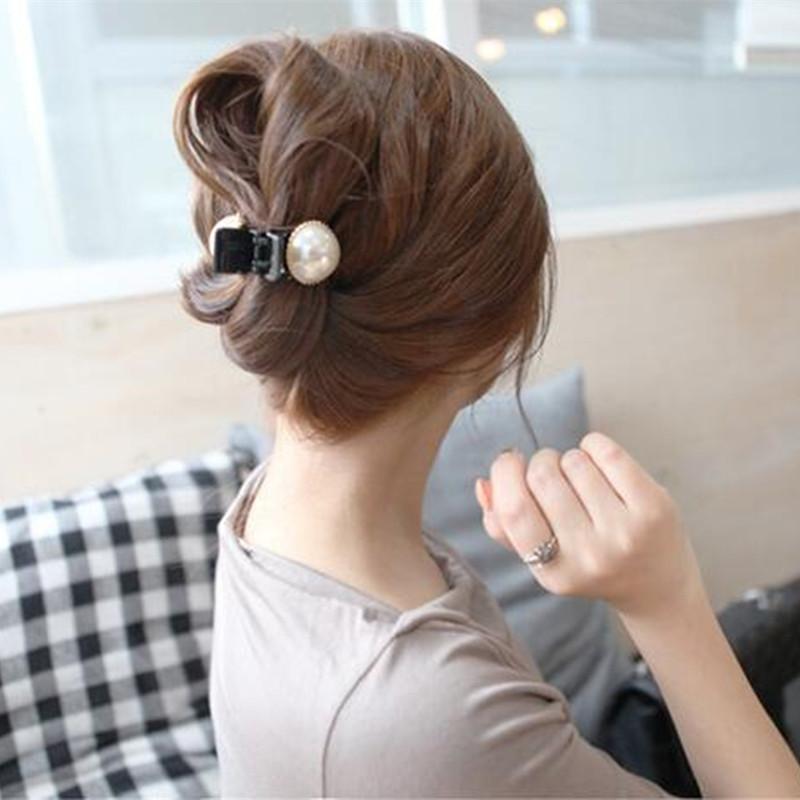 Hair accessories For Woman Lovely Pearl Hair Claw Scrunchies Beautiful Crystal Hair Clip Headwear Hair Bands Girls Accessories(China (Mainland))