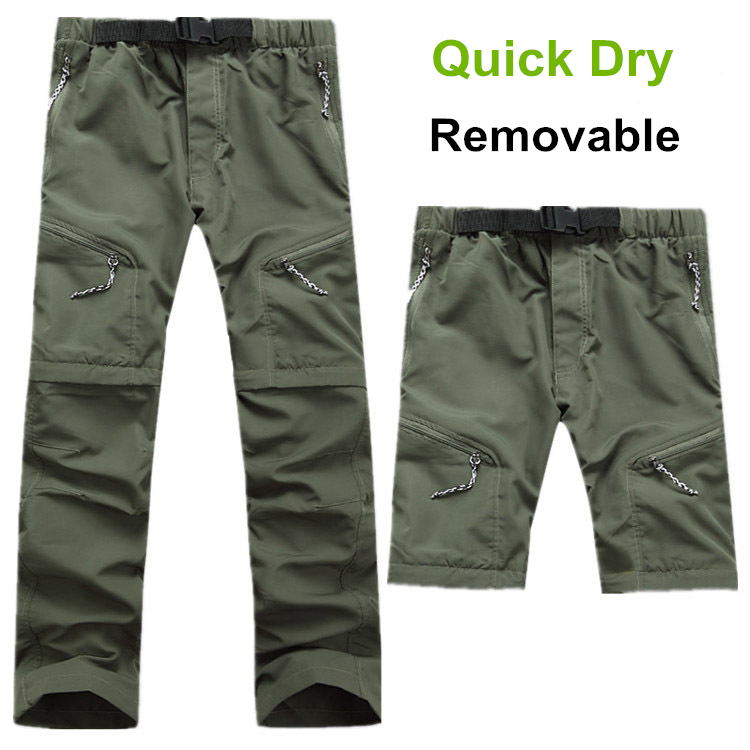 2015 Summer Outdoor Hiking Quick Dry Pants Removable Men Waterproof Pants Quick Dry Breathable Uv Protection For Hiking Camping(China (Mainland))