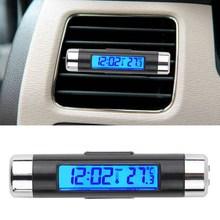 R1B1 Hot New Arrival Car LCD Digital backlight Automotive Thermometer Clock Calendar Free Shipping(China (Mainland))