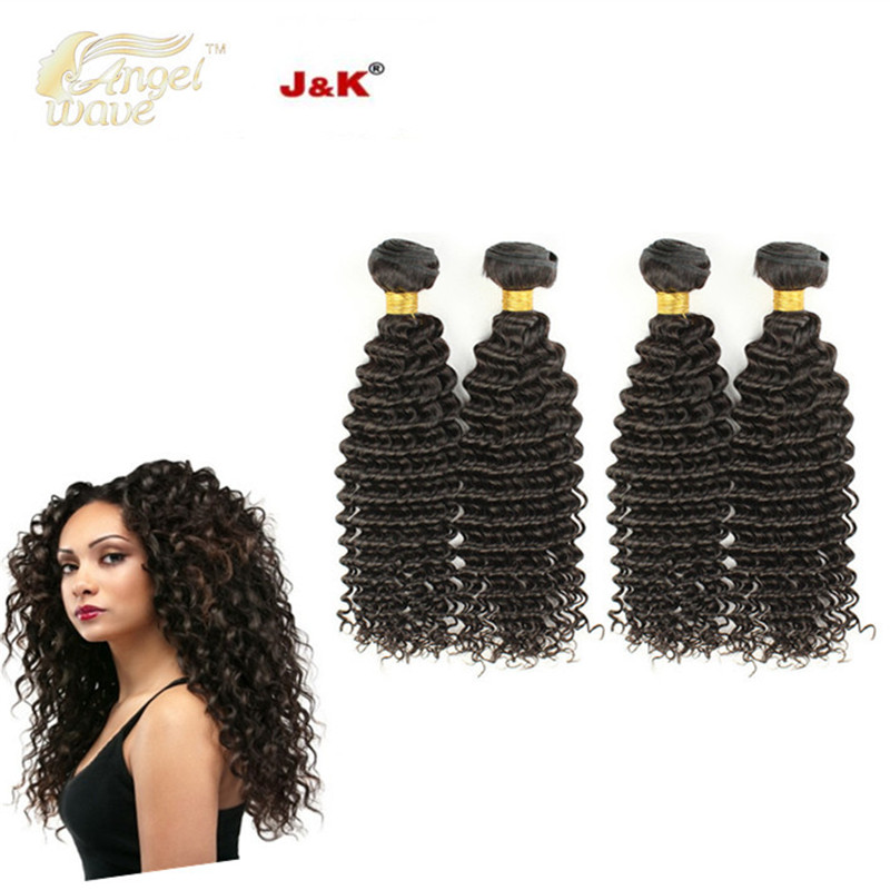 Angelwave hair products 8A Brazilian Curly Virgin Hair Weave 100% Human Hair Deep Wave Products Natural Human Hair Extention<br><br>Aliexpress