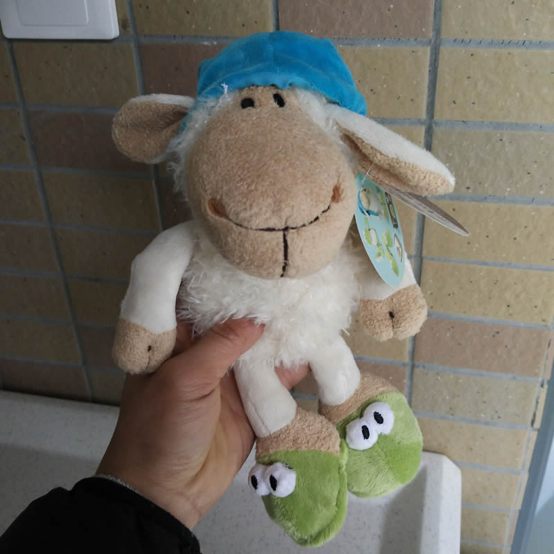 Free shipping 25cm=9.8inch NICI Sleepy Sheep Goat Ram Stuffed Animals Soft Toys Plush Doll For Birthday Gift(China (Mainland))
