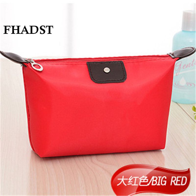 FHADST New Women Cute Multifunction Beauty Zipper Solid Travel Cosmetic Bag Letter Makeup Case Pouch Toiletry Organizer Holder(China (Mainland))