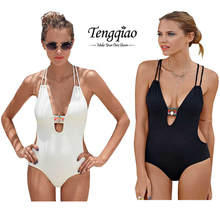 2016 Maillot De Bain Swimming Suit For Women Trikini One-Piece Swimwear Womens Halter Bandage Cut Rompers Swimsuits Summer Style