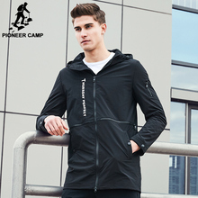 Pioneer Camp New Spring fashion brand jacket men windbreaker hoodie coat male top quality casual outwear for men AJK707003(China (Mainland))