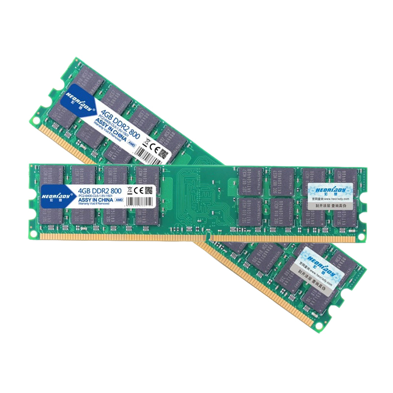 Free Shipping DDR2 4GB 800 Memory RAM Memoria DRAM Module 800MHz PC Desktop Compatible 533MHz 667MHz FOR AMD(China (Mainland))