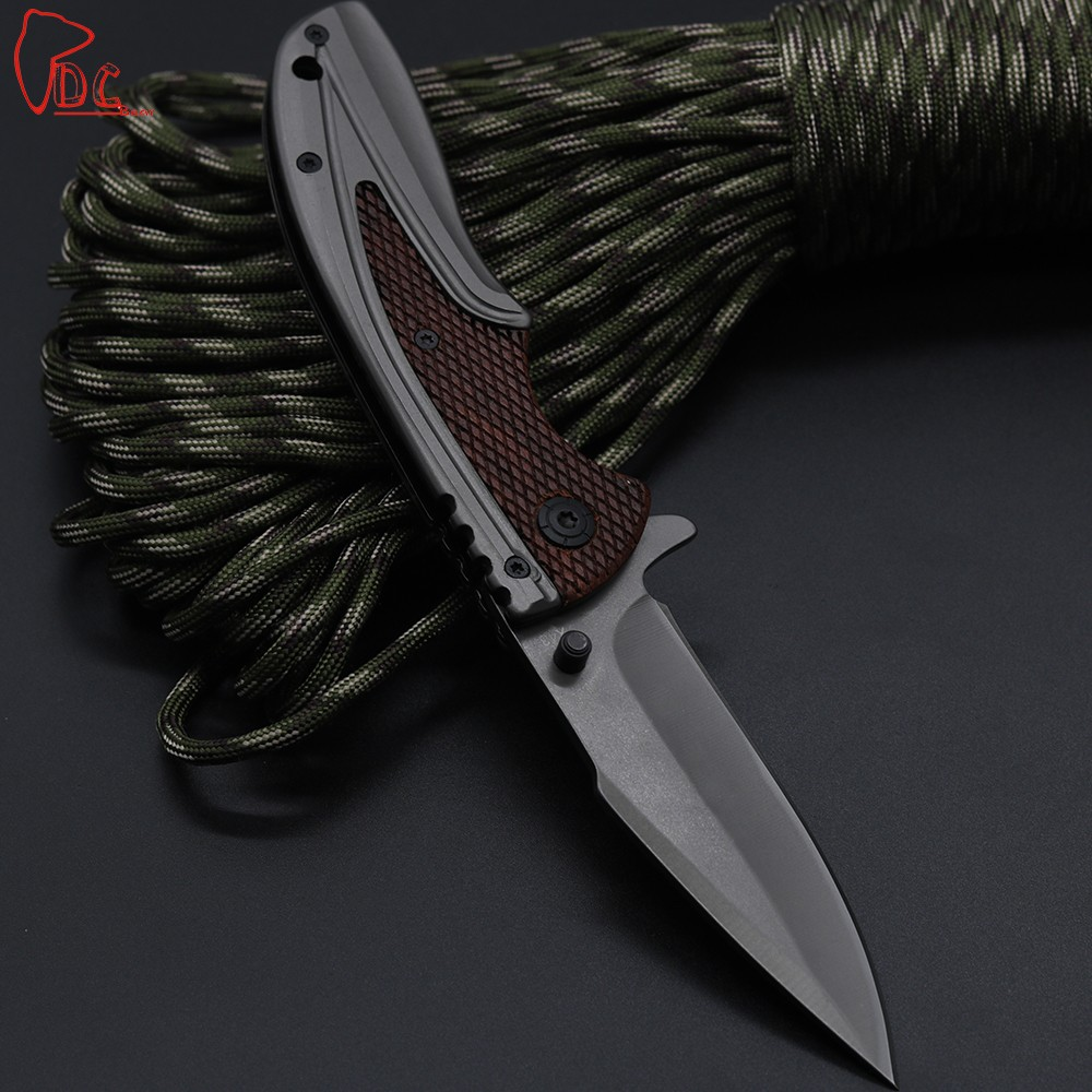Buy Dcbear X43 Folding Pocket Knife 3CR13MOV Blade Combat Outdoor Camping Knife Tactical Survival Hunting EDC Tools Rescue Knives cheap