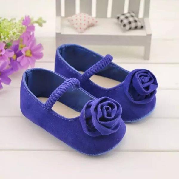 Newborn Infant Kids Baby Child Girls Flower First Walker Prewalker Crib Shoes New Purple/Red/Gray/Black