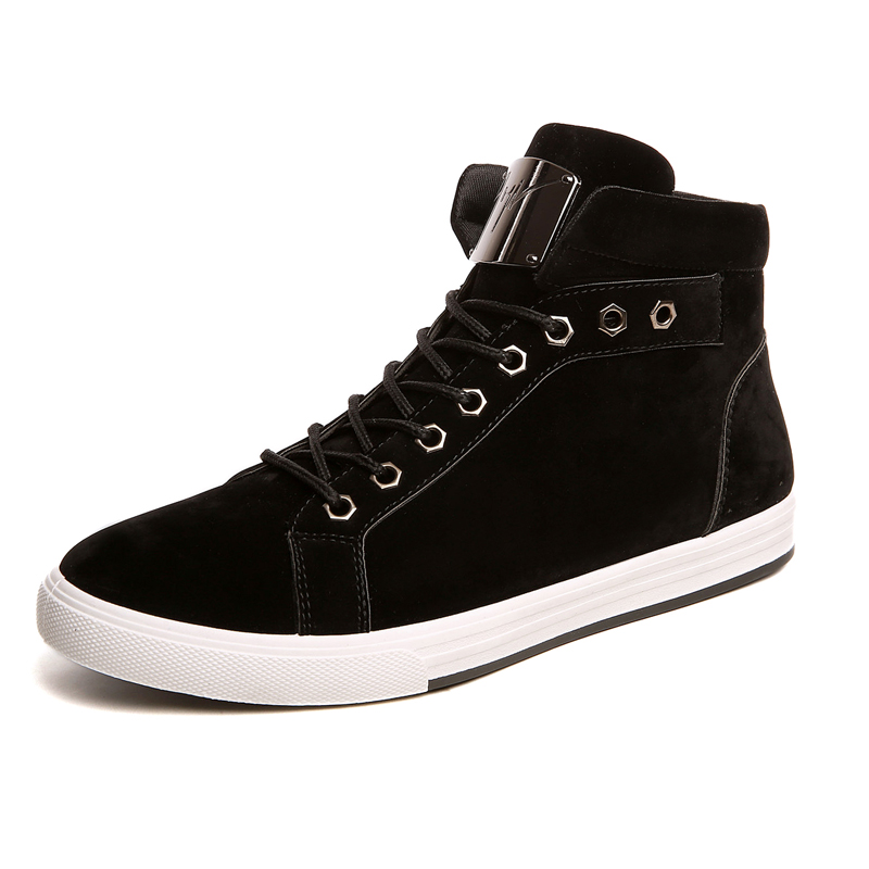 Здесь можно купить  Men Casual Shoes Male Hightops Fashion Ankle Shoes Autumn And Winter Cotton Nubuck Leather Flats Shoes With Glitter  Обувь
