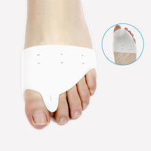 1pair=2pcs Daily Use Foot Care Biological Silicone Hallux Valgus Orthosis Toe Separator Big Toe Corrector Forefoot Pad(China (Mainland))