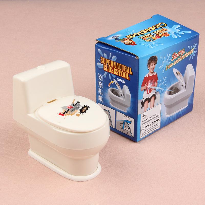 Kids Novelty Toys Mini Toilet Toys Mini Prank Squirt Spray Water Toilet Closestool Joke Gag Toy Surprise Gift DM-010(China (Mainland))