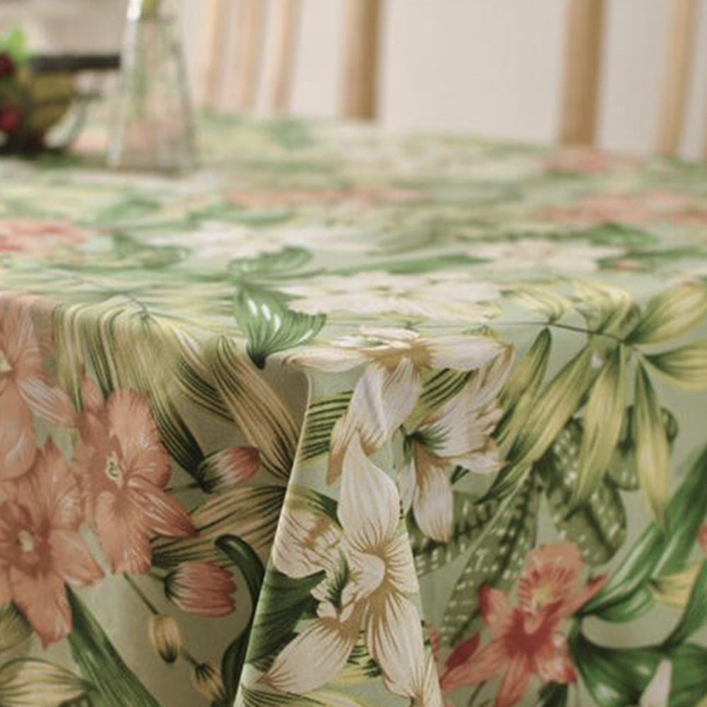 AIHOME Pastoral Style Cotton Table Cloth Square Rectangular Tablecloths Flower Printed Tablecloth Dustproof Table Covers LW466(China (Mainland))