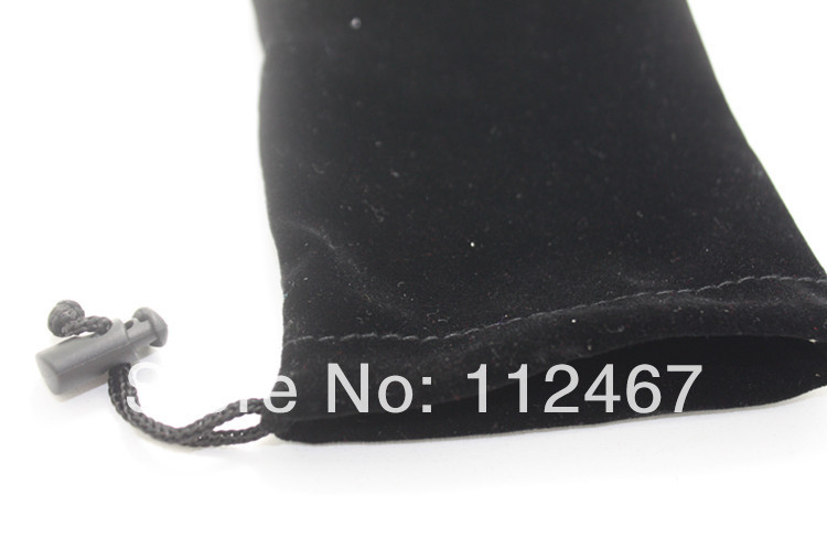 Free ship 10 Pieces 9.5*16.3 cm Flannel Bag phone ,mp3 mp4 mp5 Beads Christmas Gift Bag(China (Mainland))