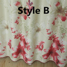Floral Pink Printed traditional chinese curtain Princess Sheer curtains for Kids girl Room bedroom Window Curtain WP176B(China)