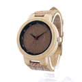 BOBO BIRD D16 Brand Designer Bamboo Wood Quartz Watches for Men Women With Real Leather Straps