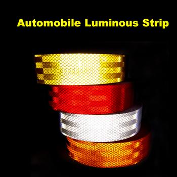 1 Meter / 2 Meter DIY Fluorescent Reflective Sticker Automobile luminous strip car&motorcycle Decoration Sticker Car Styling