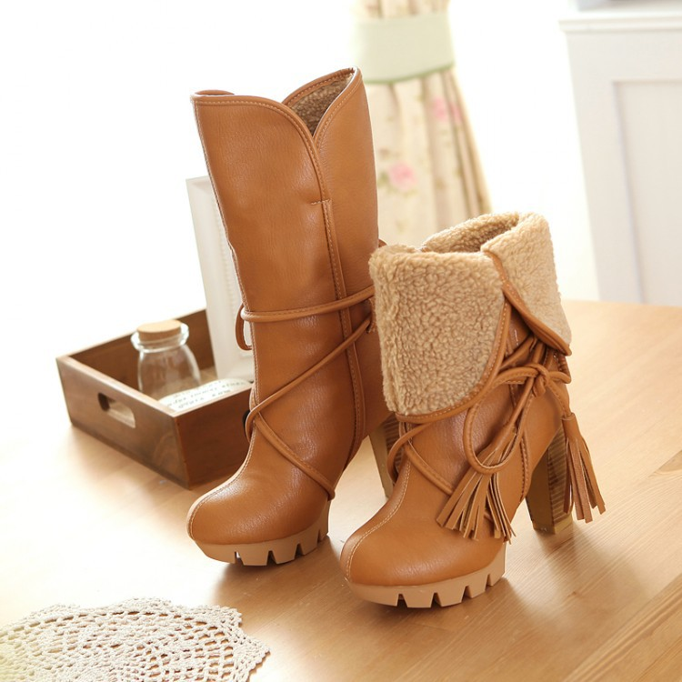 Гаджет  2014 new botas femininas autumn winter women riding boots female high heel thick heel women