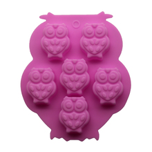 1PCS 6 holes 3D Owl silicone mold Making a cake Ice Tray Chocolate Mould Fondant Mould Cake Decorating Tools Kitchen Accessories(China (Mainland))