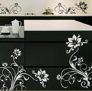 Wall stickers small flower vine kitchen cabinet decoration stickers furniture stickers(China (Mainland))