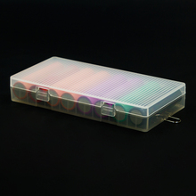 5 Pcs / lot Soshine 8X18650 Battery Holder Case 18650 Battery Storage Box with Hook Holder—Transparent, Strong & Hard