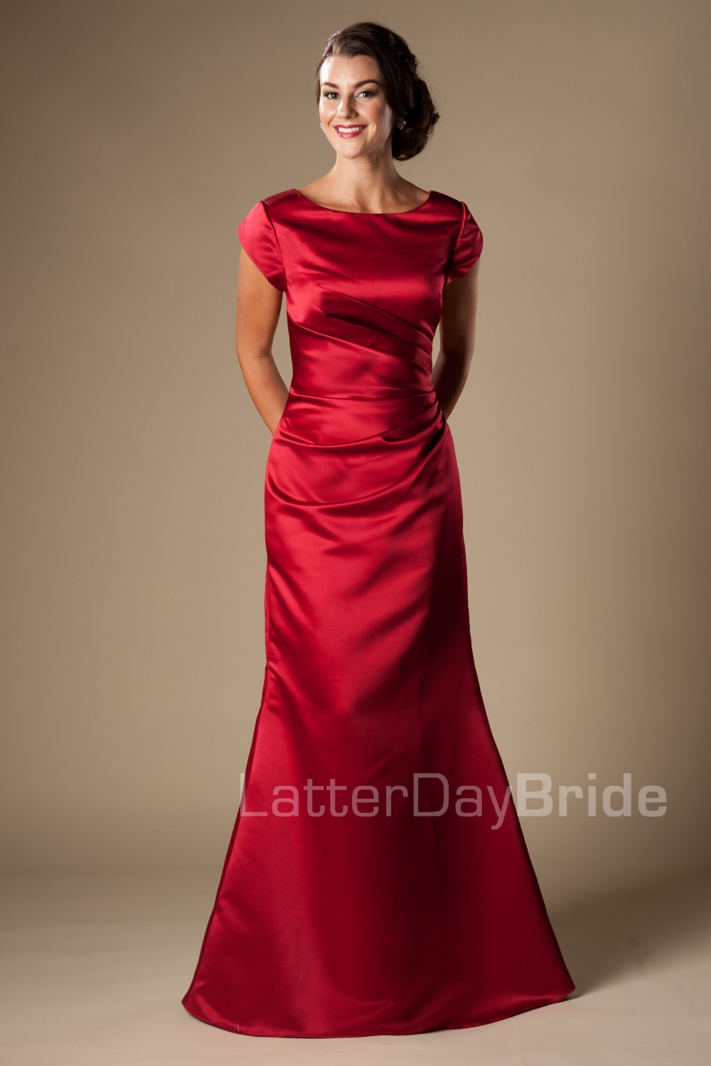 Online Get Cheap Red Modest Bridesmaid Dresses -Aliexpress.com ...