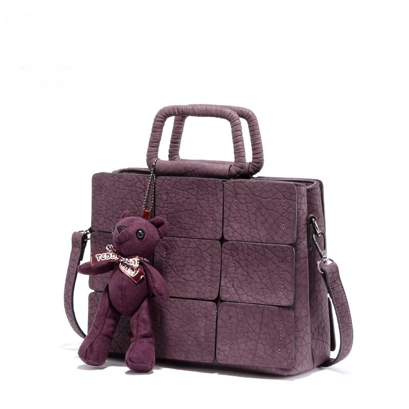 Small Tote Bag Ladies Bags Women Leather Handbags Shoulder Bag Crossbody Bags for Women Handbag with Cute Bear G5126(China (Mainland))