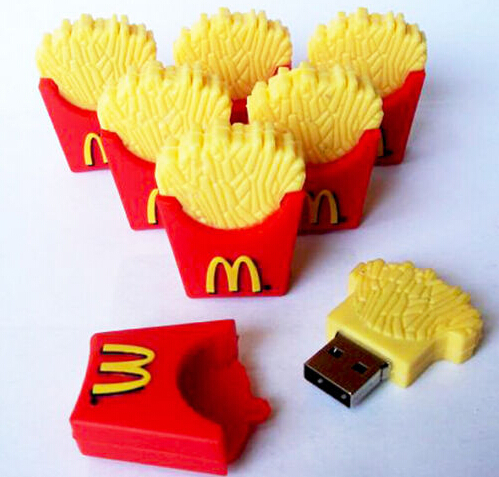 New Hotsales Cartoon Novelty Food Fries USB 2.0 Memory flash stick pendrive Can do company logo(China (Mainland))