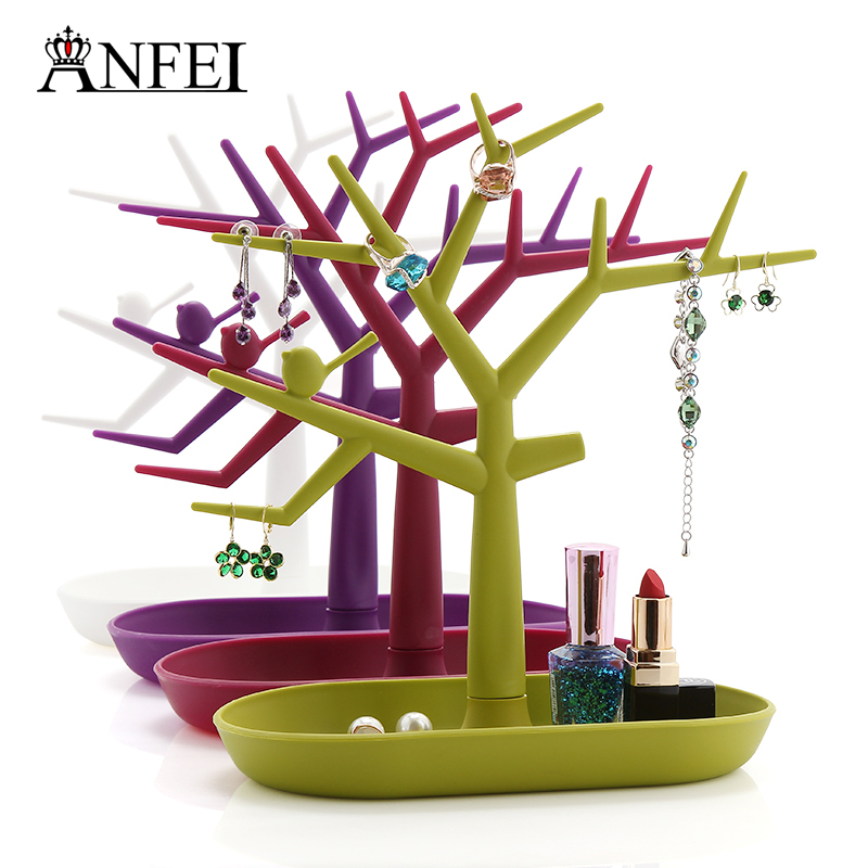 4 Differents Colors Earrings & Rings Display Stand The Shape Of The Branch Jewelry Display Bracelet Pendant Holder White Color(China (Mainland))
