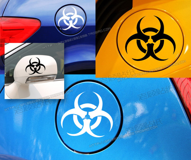 Resident Evil vinyl fuel tank cap car sticker custom modified car stickers cover retaining scratches Motorcycle Decal Truck Van