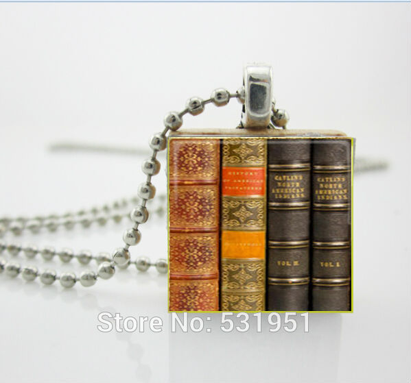 Womens necklace fashion 2014,Scrabble Game Tile Jewelry - Vintage Library Books Necklace- Scrabble Pendant Charm(China (Mainland))