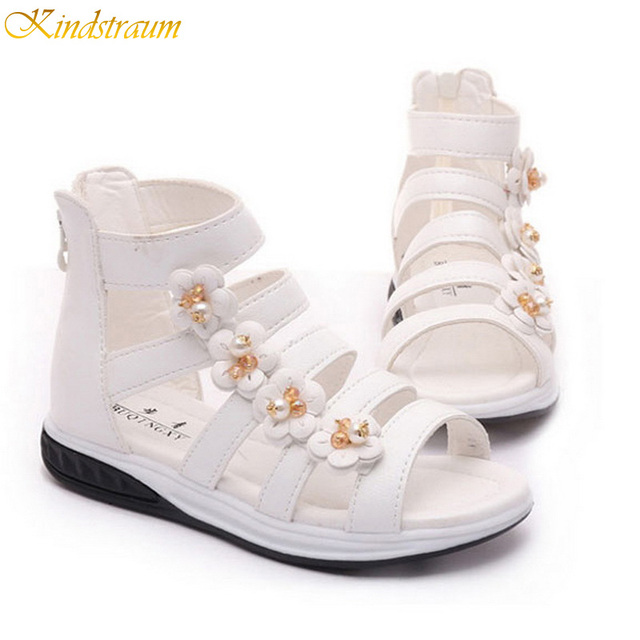 Kindstraum девушки цветы сандалии 2016 тенденции рим стиль пип-схождение летняя обувь ...