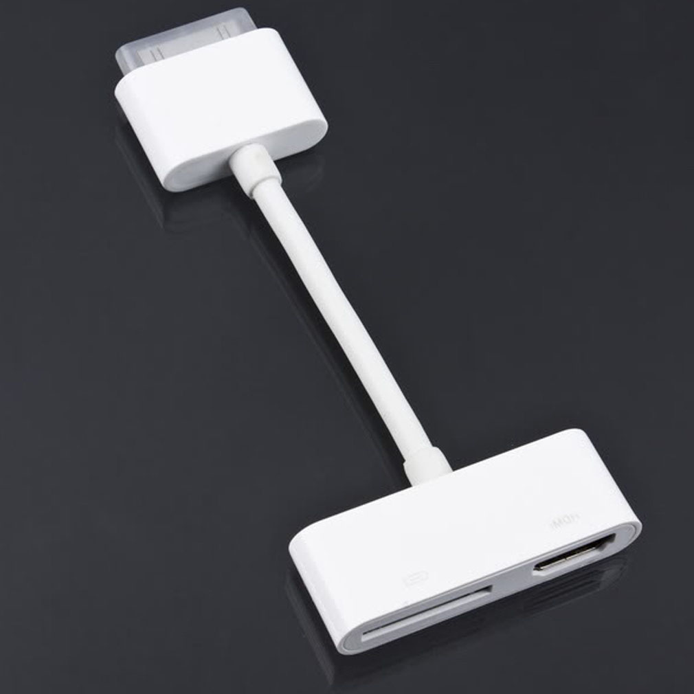 1Pcs Digital AV HDMI Adapter cable For iPod Touch for iPhone 4 4G for iPad 2 for iPad2(China (Mainland))