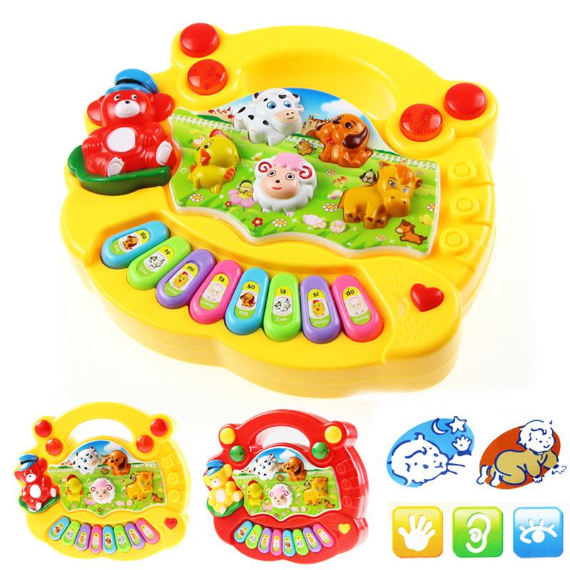 Free Shipping High Quality Baby Kid Musical Educational Animal Farm Piano Music Toy Developmental(China (Mainland))