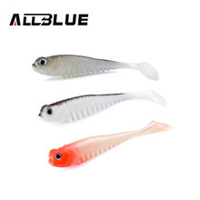 ALLBLUE 10pcs/lot 2.6g/7.5cm Soft Bait Fish Fishing Lure Shad 3D Eyes Soft Silicone Tiddler Bait Swimbaits Plastic Lure Pasca(China (Mainland))