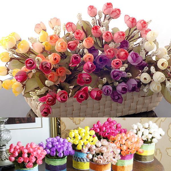 New 15pcs Artificial Flowers For Wedding Decorations Fake