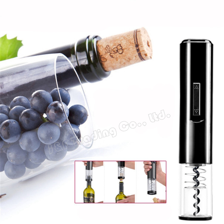 Wholesale Electric Wine Opener Battery Operated Red Wine Corkscrew Automatic Bottle Opener with Handy Foil Cutter(China (Mainland))