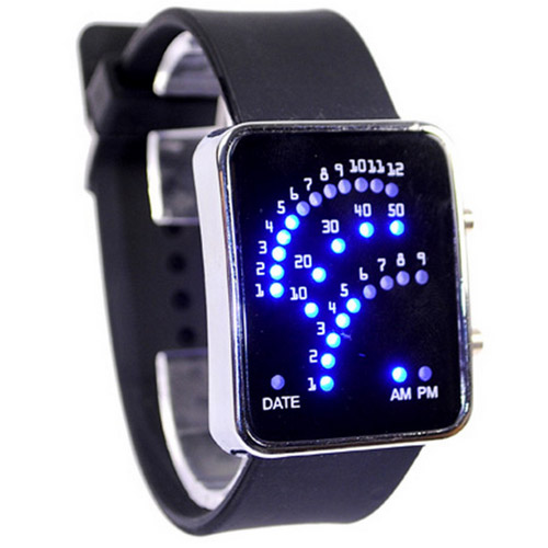 Fashion Creative LED Fan Second Generation LED Watches Fashion Watches Free Shipping Wrist Watches For Men(China (Mainland))