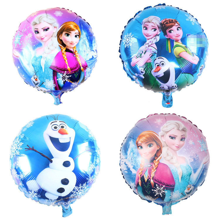 2pcs Elsa Anna Round Foil Balloon Wedding Decoration Cartoon Inflatable Balloons Birthday Party Decorations Ornament Kids toys(China (Mainland))