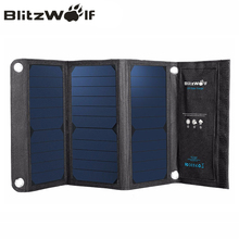 BlitzWolf Portable Solar Power Bank 20W Dual USB Powerbank Charger Solar Panel Mobile Phone Charger Universal For iPhone 7 6s 6(China (Mainland))