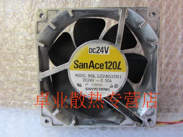 Free Shipping Wholesale Original Sanyo 9GL1224G1D01 12038 12cm 120mm DC 24V 0.50A server inverter case axial cooling fans<br><br>Aliexpress