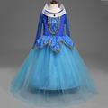 Autumn Spring Girl Dress 2016 Princess Aurora Dresses Sleeping Beauty Princess costume for girls party vestidos